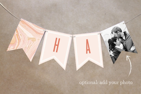 Modern Marble Personalizable Bunting Banner