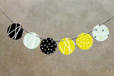 Modern Mint Circle Garlands