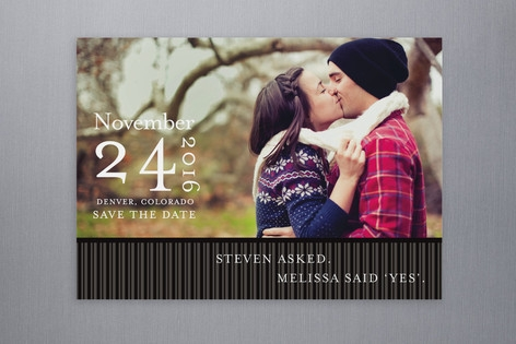 Modern Stripes Save the Date Postcards