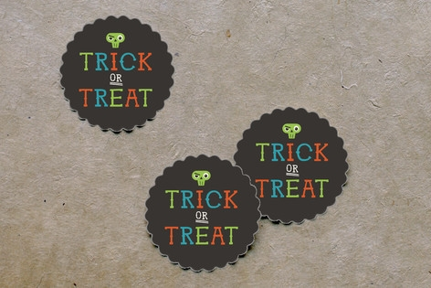 Monster Halloween Scalloped Stickers by Bob Daly