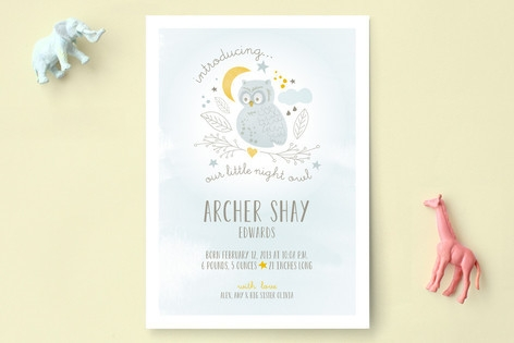 Night Owl Birth Announcements