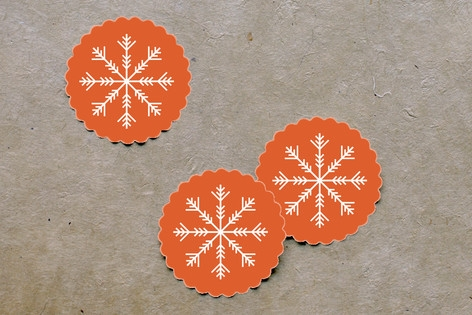 Nordic Joy Scalloped Stickers by Laura Hankins