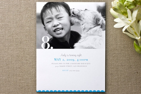 Nostalgia Children's Birthday Party Invitations