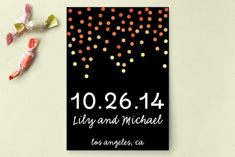 Ombre Confetti Save the Date Cards by LOursin Desi...