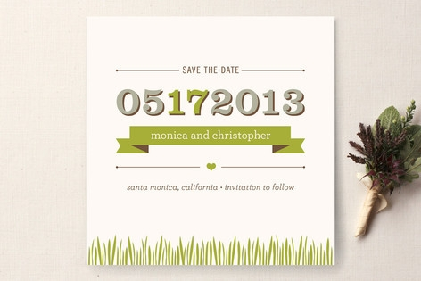 Organic Save the Date Cards by Monica Tuazon