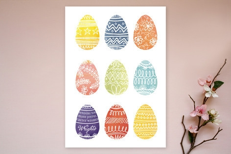 Painted Eggs Easter Cards