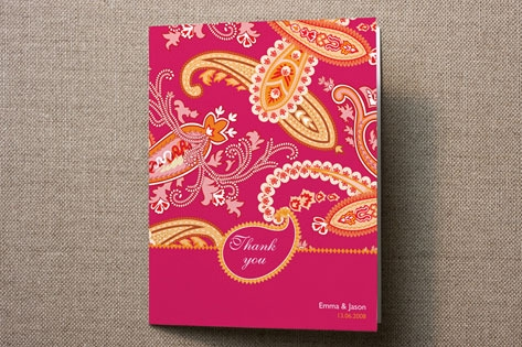 Paisley Passion Thank You Cards by Sandhya Rao