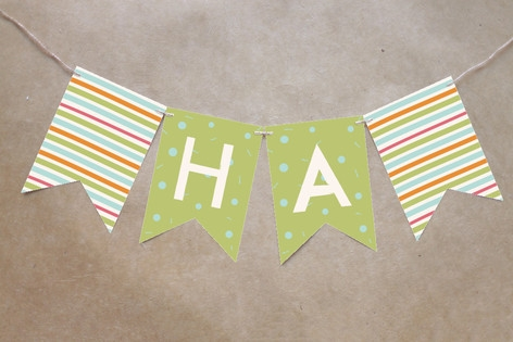 Park Party Bunting Banners by Carolyn MacLaren
