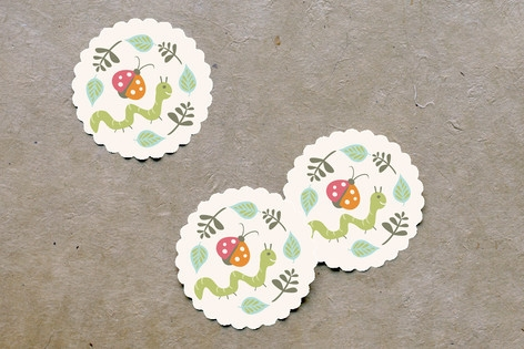Park Party Scalloped Stickers by Carolyn MacLaren