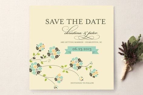 Petite Fleur Save the Date Cards by 2BSquared Desi...