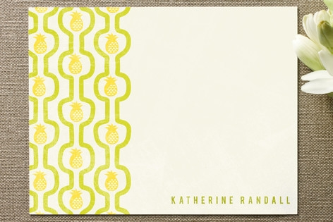pineapple pattern Personalized Stationery by Jody ...