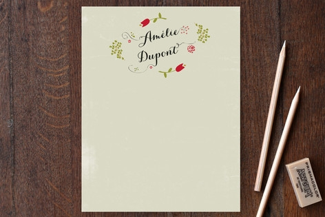 Poesie Personalized Stationery by Cecile Paper Lou...