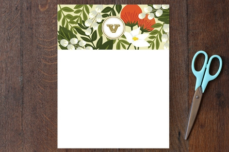 Rainforest Monogram Personalized Stationery by Gri...