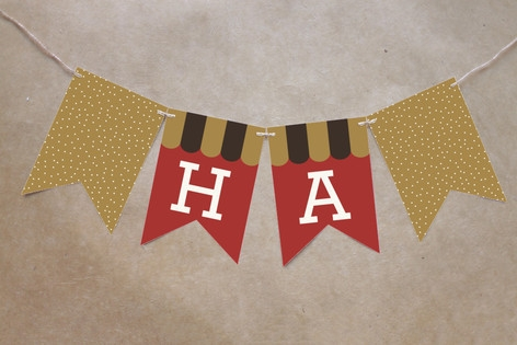 Red Velvet Revelry Bunting Banners by b.wise paper...