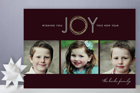 Rings of Joy New Year's Photo Cards