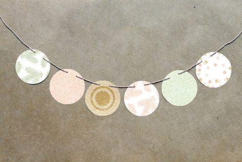 Rose Colored Glass Circle Garlands by kelli hall