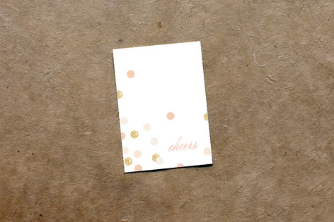 Rose Colored Glass Mini Notecard Favor