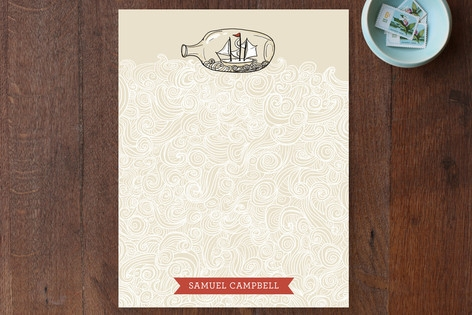 Sail Away Personalized Stationery by Pistols