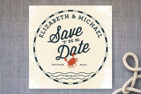 Salty Seas Save the Date Cards by Oscar & Emma