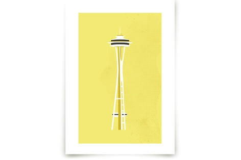 Seattle Space Needle Flare Art Prints