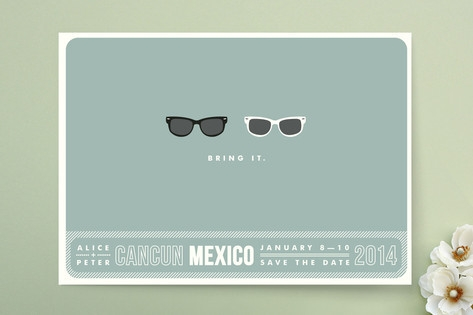 Shades Save the Date Cards by Olive and Violet