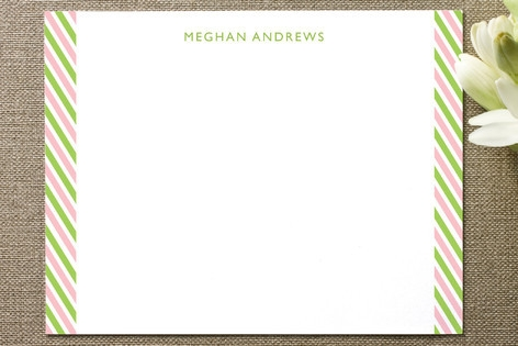 Side Stripes Personalized Stationery by Whisker Gr...