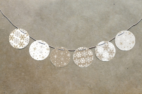 Silver and Gold Circle Garlands by Jody Wody