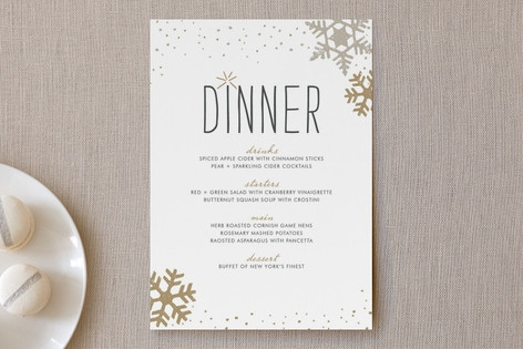 Silver and Gold Menu