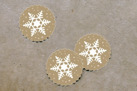 Silver and Gold Scalloped Stickers by Jody Wody