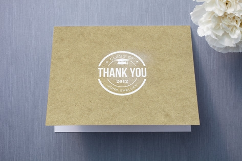Simple Graduate Thank You Cards by Courtnie Johnso...