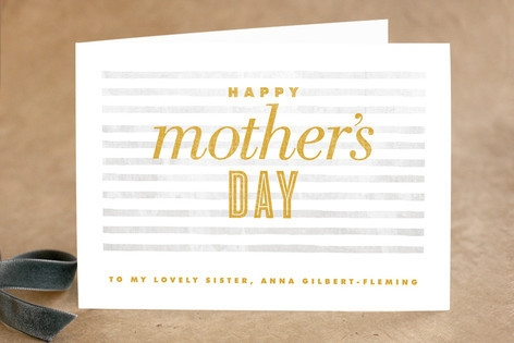 Simply Striped Mother's Day Greeting Cards