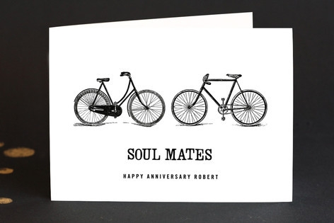 soul mates Anniversary Greeting Cards by trbdesign