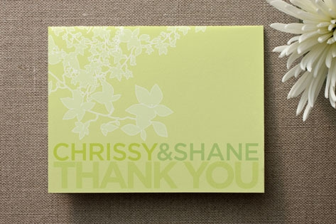 Spring Buds Thank You Cards by Design Lotus