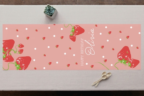 Strawberry Love Personalizable Table Runner