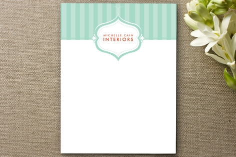 Striped Elegance Business Stationery Cards