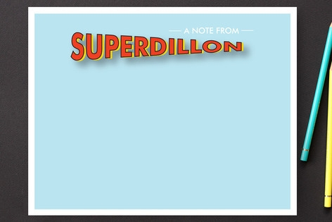 superhero Children's Personalized Stationery