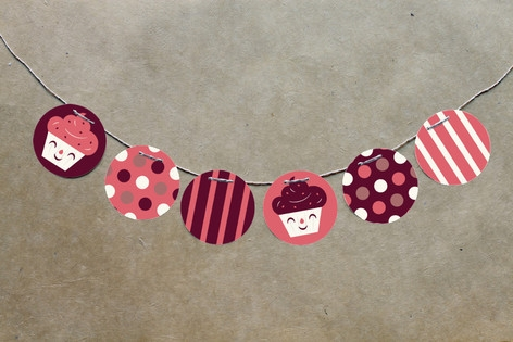 Sweet Cupcakes Circle Garlands by Bob Daly