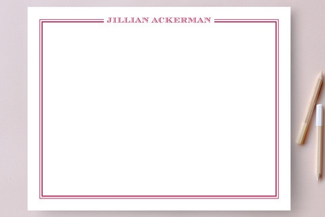 the lady Personalized Stationery by The Social Typ...
