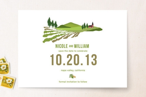 The Winery Save the Date Cards by 2BSquared Design...