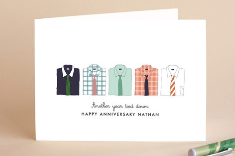 Those Stylish Men Anniversary Greeting Cards by Da...