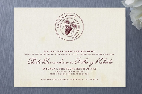 Tuscany Wedding Invitations by Sarah Brown