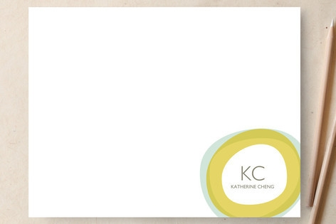 Two Circles Personalized Stationery by Oscar & Emm...