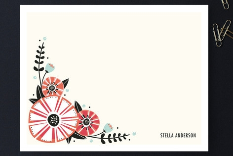 Unidentified Bloom Personalized Stationery by Ange...