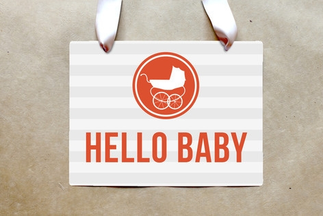 Urban Baby Party Greeting Signs by Penelope Poppy