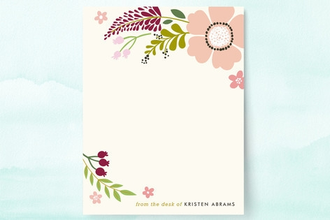 Victorian Mod Floral Personalized Stationery by Al...