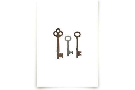 Vintage Keys Art Prints