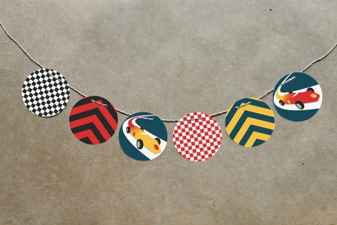 Vintage Race Car Circle Garlands by el Bandel