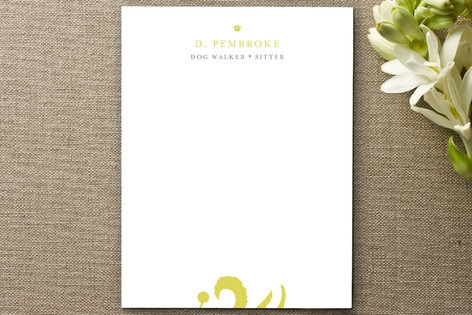 Walkin' the Dog Business Stationery Cards