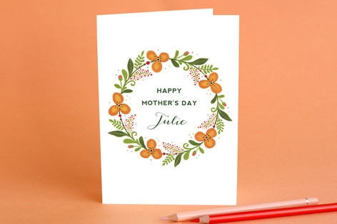 Warm Wreath Mother's Day Greeting Cards