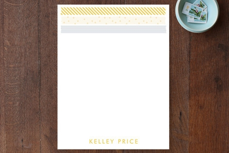 Washi Note Personalized Stationery by Kathleen Nie...